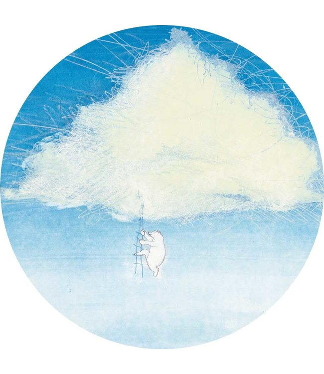 Tapetenpaneel rund Climbing the Clouds
