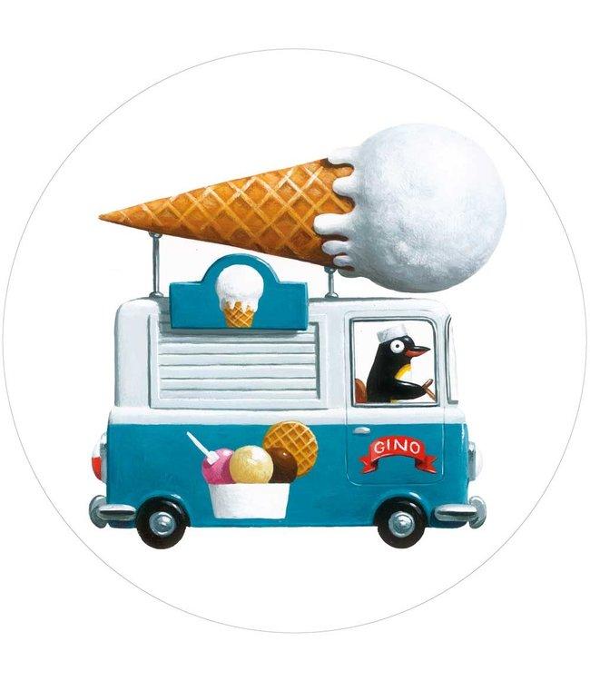 Tapetenpaneel rund Icecream Truck