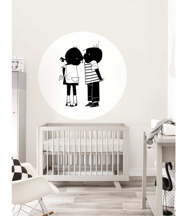 Wallpaper Circle Jip & Janneke, Kiss