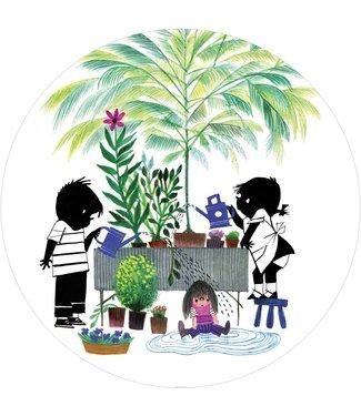Tapetenpaneel rund Jip & Janneke, Gardening