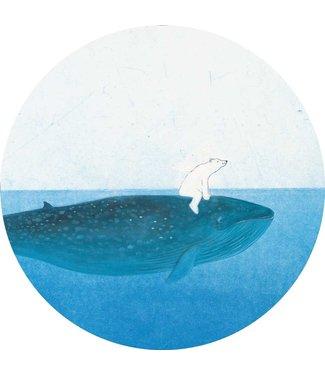 Tapetenpaneel rund Riding the Whale