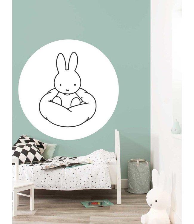 Behangcirkel Miffy Cloud