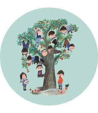 Tapetenpaneel rund Apple Tree