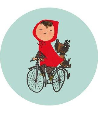 Tapetenpaneel rund Riding my Bike