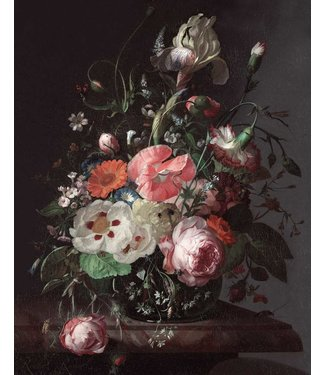Tapetenpaneel Golden Age Flowers, 142.5 x 180 cm