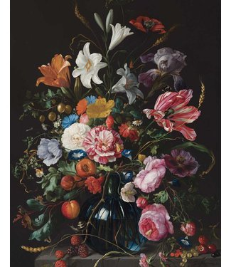 Wallpaper Panel Golden Age Flowers, 142.5 x 180 cm