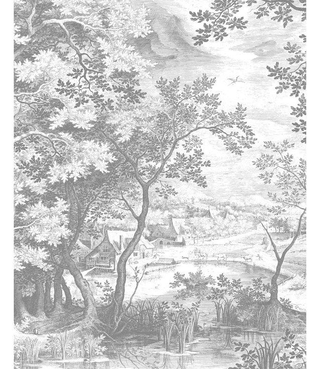 Behangpaneel Engraved Landscapes, 142.5 x 180 cm