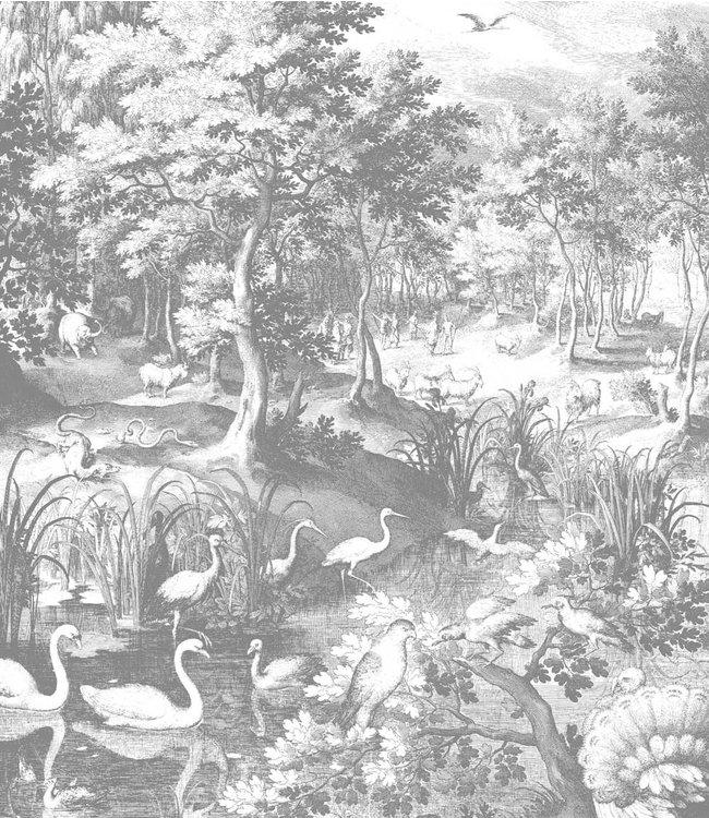 Tapetenpaneel XL Engraved Landscapes, 190 x 220 cm