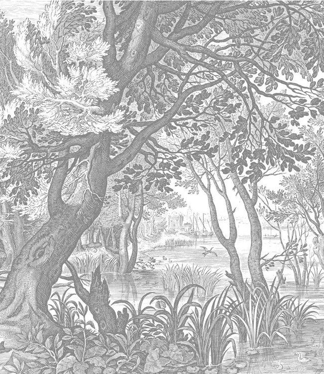 Wallpaper Panel XL Engraved Landscapes, 190 x 220 cm