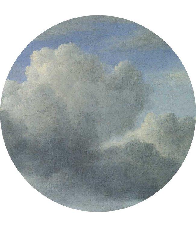 Tapetenpaneel rund Golden Age Clouds