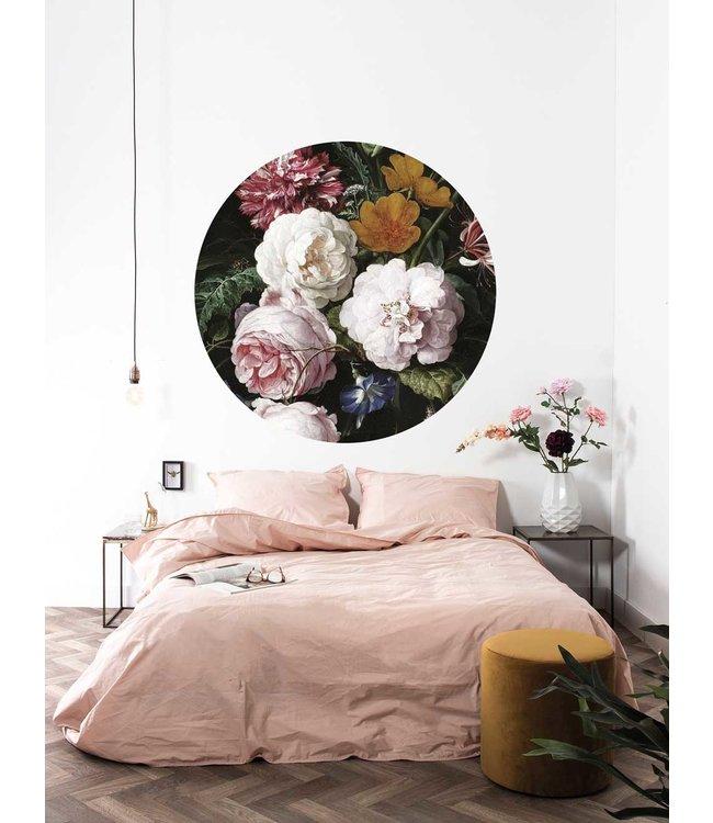 Behangcirkel Golden Age Flowers