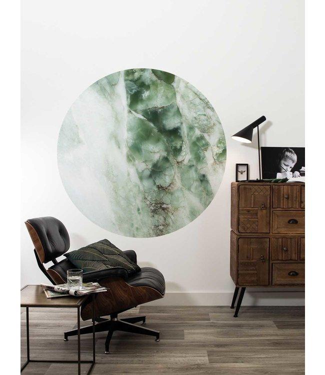 Tapetenpaneel rund Marmor, Grün