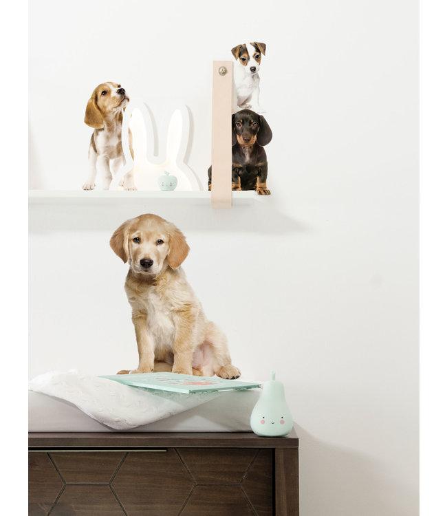Set muurstickers Puppies, 42 x 59 cm