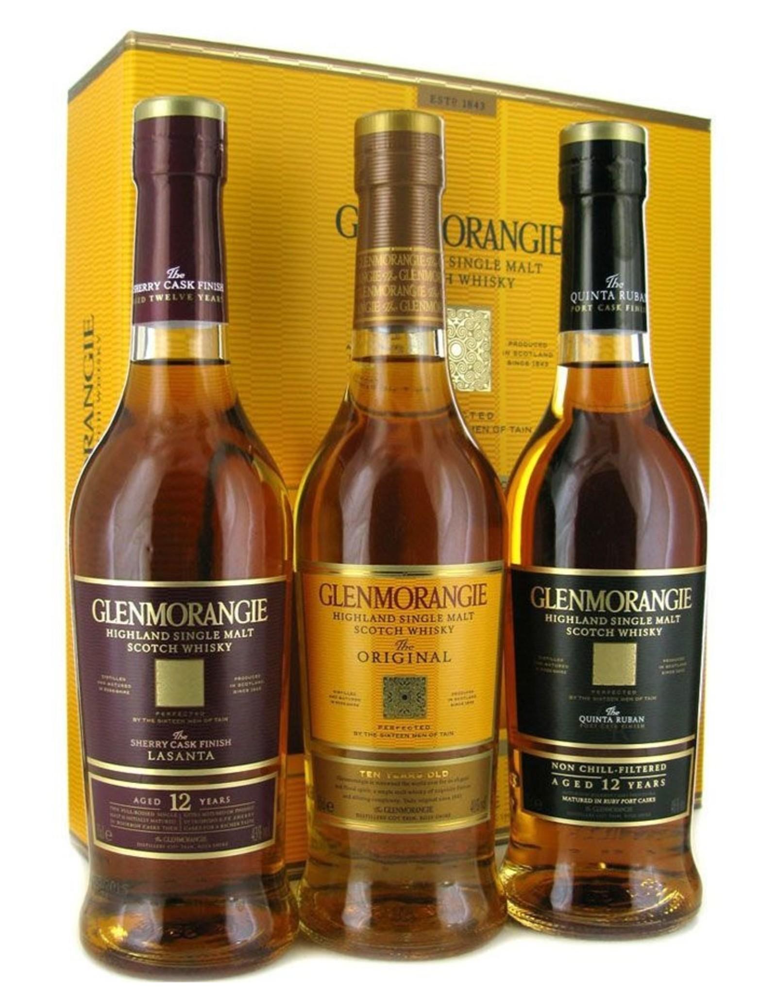 Glenmorangie Glenmorangie Giftpack 3x 35cl The Original 10yr, The Lasanta 12yr, Quinta Ruban 12yr