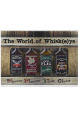 The World of Whisk(e)y miniset 4x 4cl