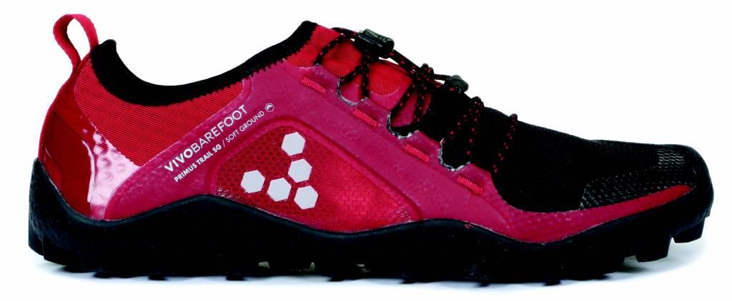 Vivobarefoot Primus Trail Soft Ground - Red / Black - Heren