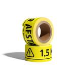 Stickerlint met tekst 1,5 meter afstand