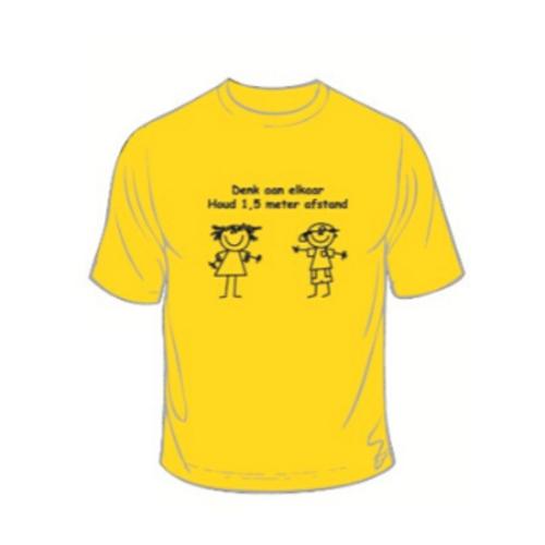 T-shirt met schoolprint