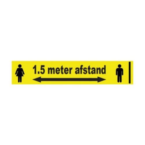 1,5 meter afstand sticker 1