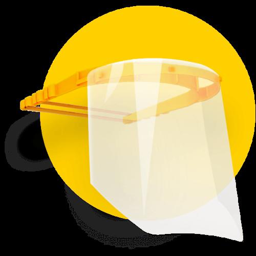 Wavin face shield