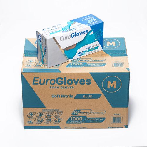 Eurogloves Soft nitrile blue handschoenen