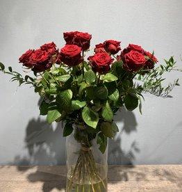 Rode rozen per stuk