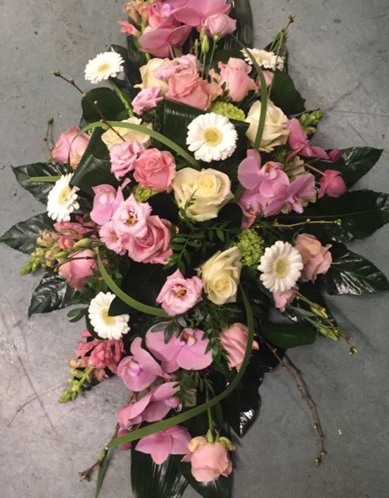 Rouwstuk langwerpig roze