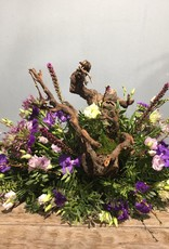 Rouwstuk paars met stronk
