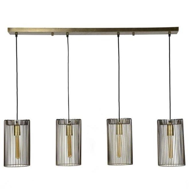 Hanglamp Eindhoven 4x17 cillinder draad
