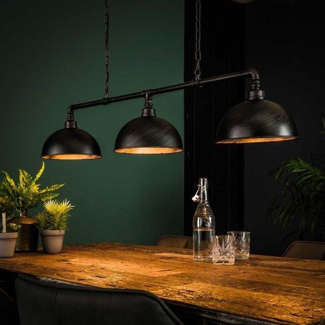 Hanglamp Almere 3L halfronde kap-industrial tube
