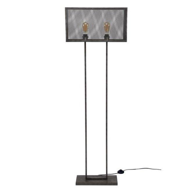Vloerlamp Leiden rechthoek raster
