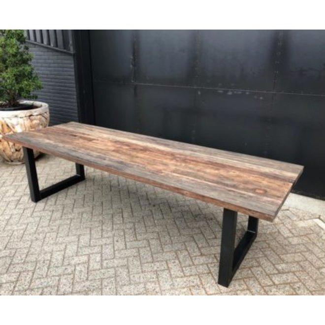 Mixed wood Pacak eettafel van 220-300cm