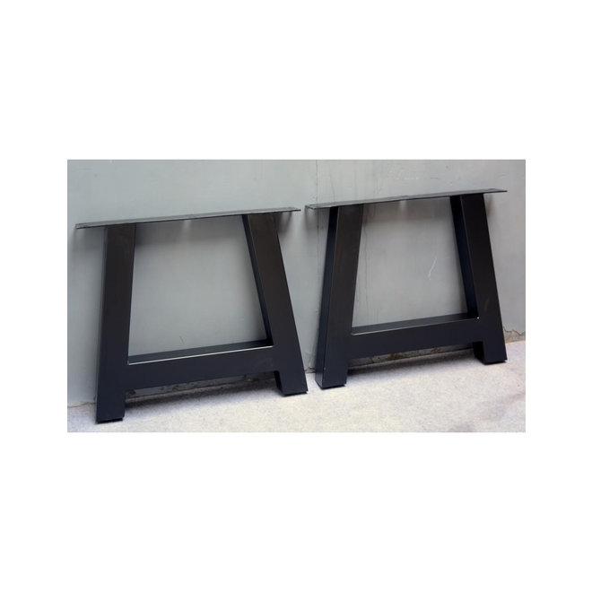 Metalen tafelpoot A-poot zwart gecoat
