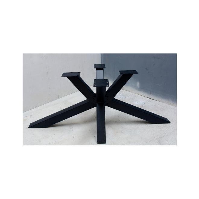 Metalen tafelpoot spinpoot zwart gecoat