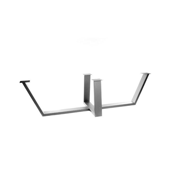 Metalen tafelpoot zwart gecoat voor lange tafels