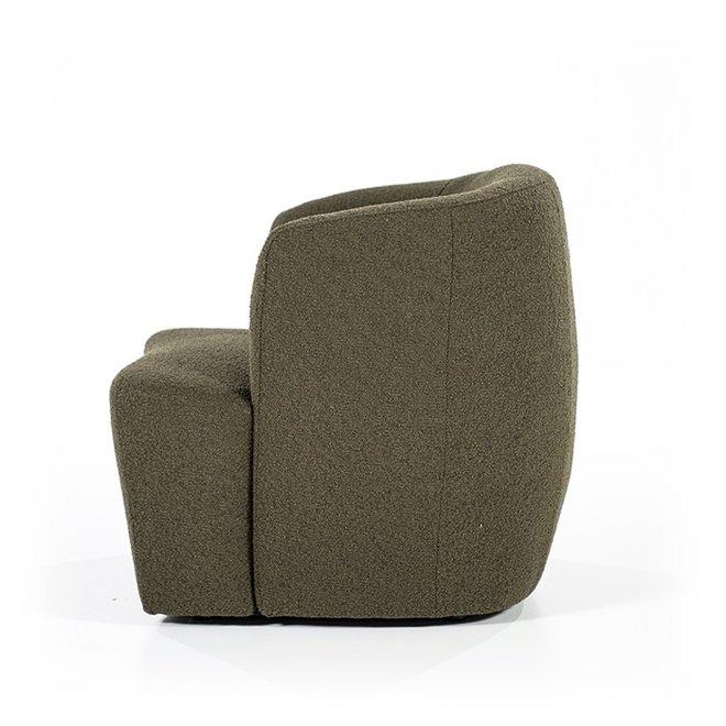 Fauteuil Charlotte - groen copenhagen  in teddy stof