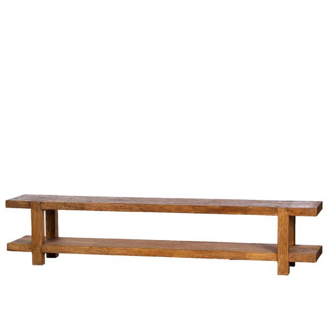 Balok TV meubel 240cm 9cm dik hout