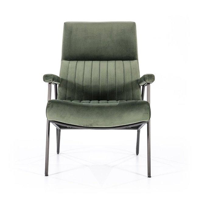 Fauteuil William - groen velvet