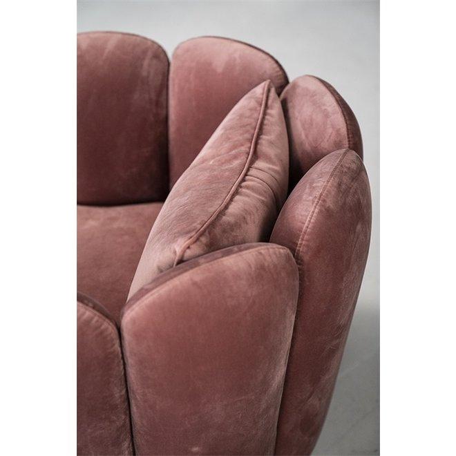 Fauteuil Maria - roze velvet