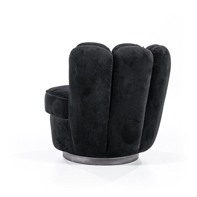 Fauteuil Maria - zwart velvet