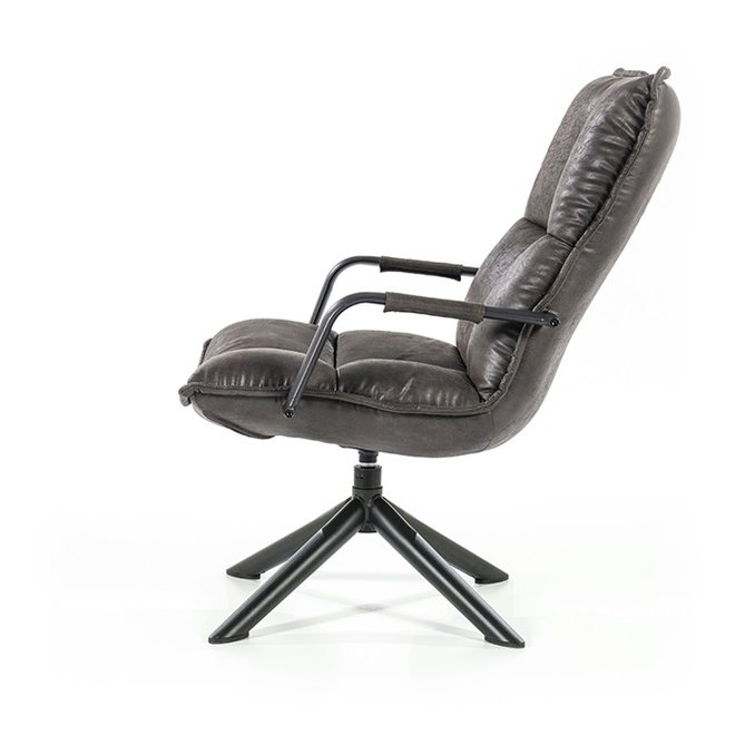 Fauteuil Mitchell - antraciet topper