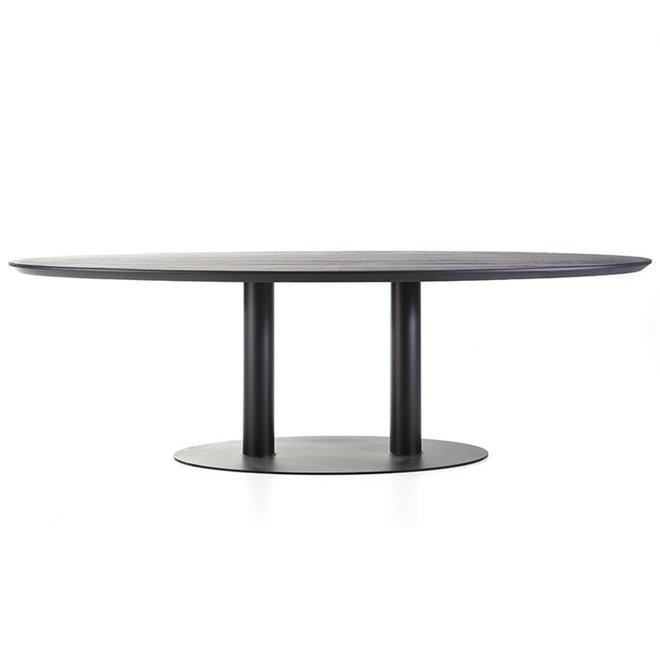 Eettafel ovaal - 300x120 zwart