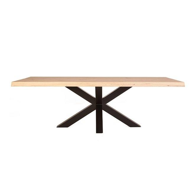 Boomstam tafel met spinpoot - 200cm x 100cm