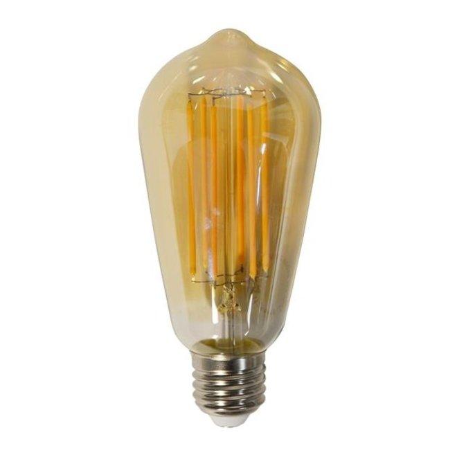 Led lamp amberkleurig met E27 fitting Dimbaar