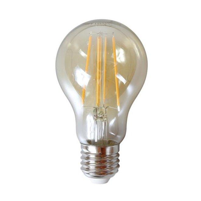 Led lamp amberkleurig met E27 fitting Dimbaar peer