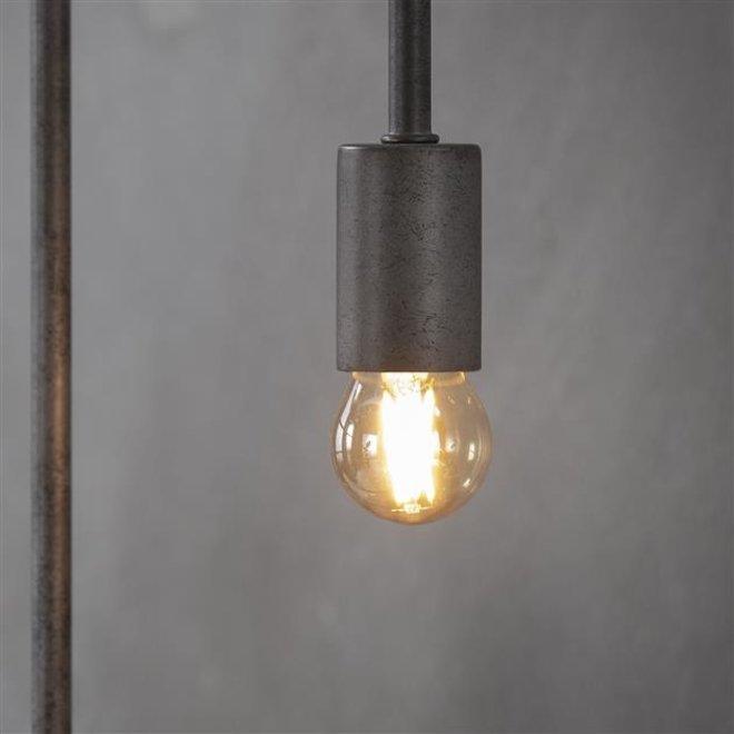 Led lamp amberkleurig met E27 fitting Dimbaar peer  Ø4,5cm