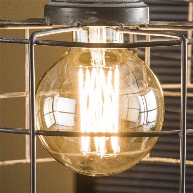 Led lamp amberkleurig met E27 fitting Dimbaar bol 9,5cm