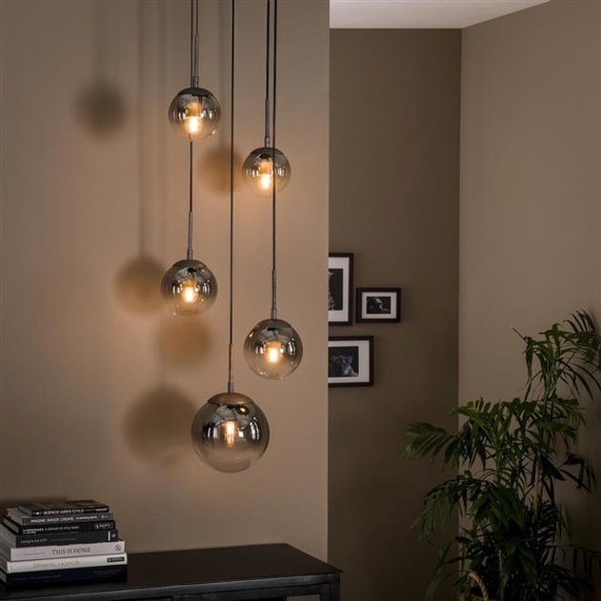Hanglamp Zoetermeer 5L  shaded getrapt