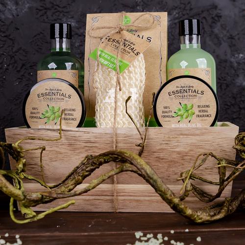 Bath & Body Essentials Collection Badset Olive geschenkset - Bath & Body Essentials Collection - Geschenkset Vrouwen - Moederdag geschenkset