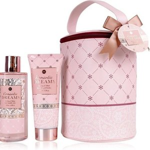 Romantisch badset in make-up tas - Romantic dreams - Tea rose & Velvet